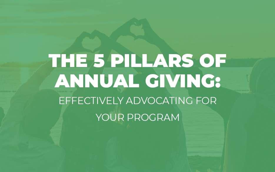 5 pillars annual giving blog image